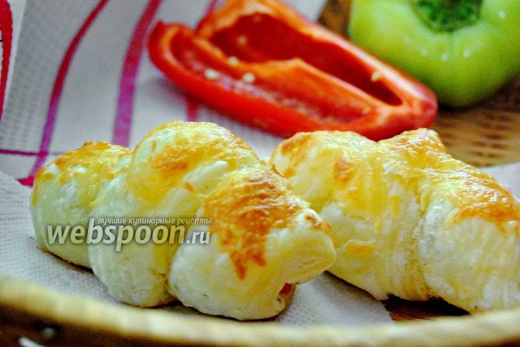 Фото Круассаны с курицей и болгарским перцем