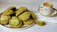 Фото рецепта Печенье с трещинками с чаем матча