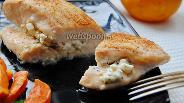 Фото рецепта Куриное филе фаршированное фетой