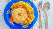 Фото рецепта Индийский дал из красной чечевицы с золотым рисом