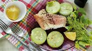 Фото рецепта Морской окунь с молодым кабачком в пароварке