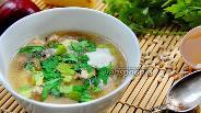 Фото рецепта Суп с грибами, тефтелями и ячменём