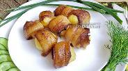 Фото рецепта Картофель в маринованном сале в духовке