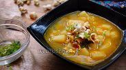 Фото рецепта Нутовый суп из попкорна
