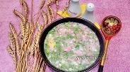 Фото рецепта Окрошка с копчёной колбасой, картофелем и яйцами