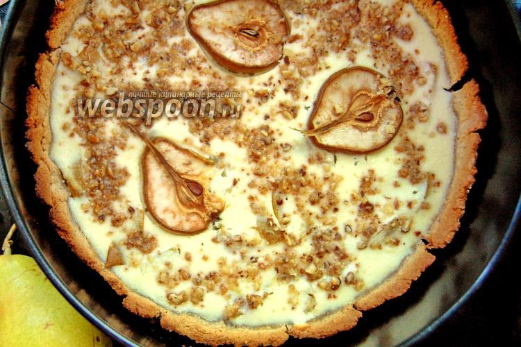 Фото «Правильный» пирог с грушей и рикоттой