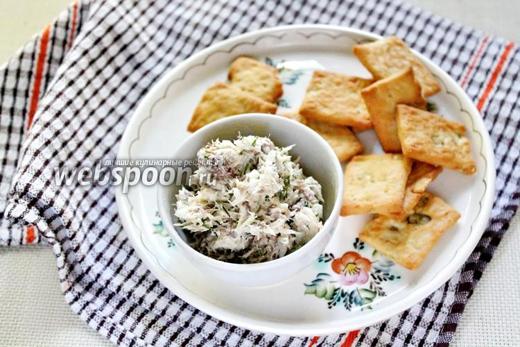 Фото Рийет из скумбрии с творожным сыром