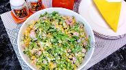 Фото рецепта Салат с ветчиной и листьями салата