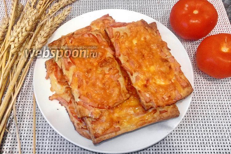 Фото Мини-пицца с ветчиной и сыром