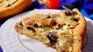 Фото рецепта Пирог с грибами и стручковой фасолью