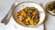 Фото рецепта Жареная картошка с шампиньонами