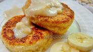 Фото рецепта Овсяные сырники с банановым соусом