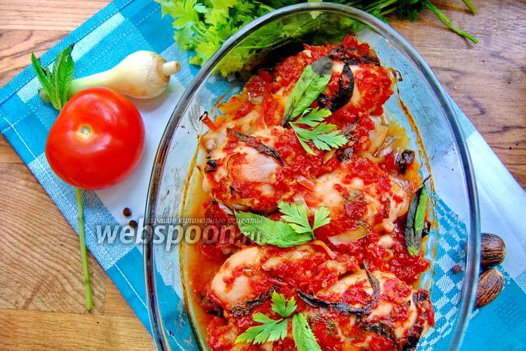 Фото Куриные ножки в мятно-томатном соусе