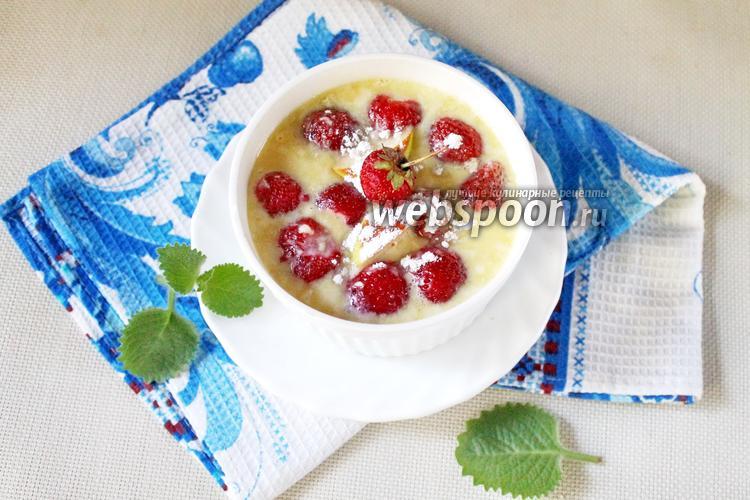 Фото Сливочно-шоколадный крем с клубникой