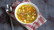 Фото рецепта Суп с киноа и чесночными стрелками