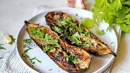 Фото рецепта Баклажаны с чесноком в духовке