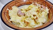 Фото рецепта Яичница с сосисками и сыром в мультиварке