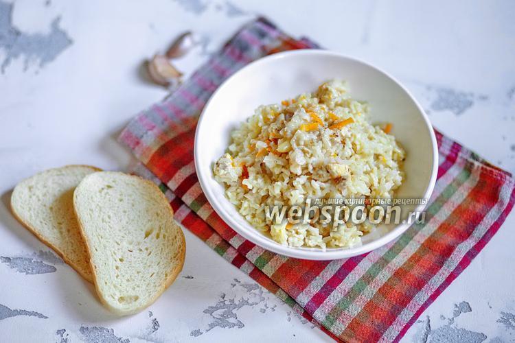 Фото Плов из бурого риса с курицей мультиварке