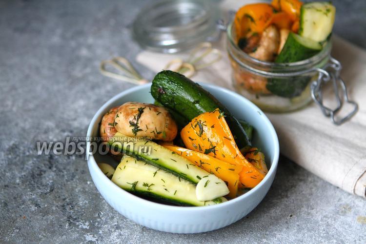 Фото Малосольные овощи быстрого приготовления в пакете