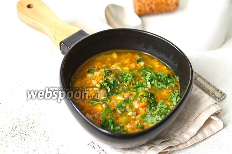 Фото Суп из бобовых на курином бульоне