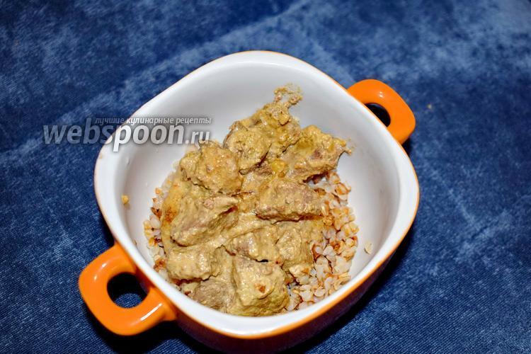 Фото Говяжья печень с подливкой в мультиварке