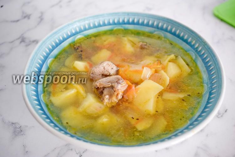 Фото Картофельный суп с рыбными консервами
