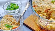 Фото рецепта Овощной крамбл с курицей