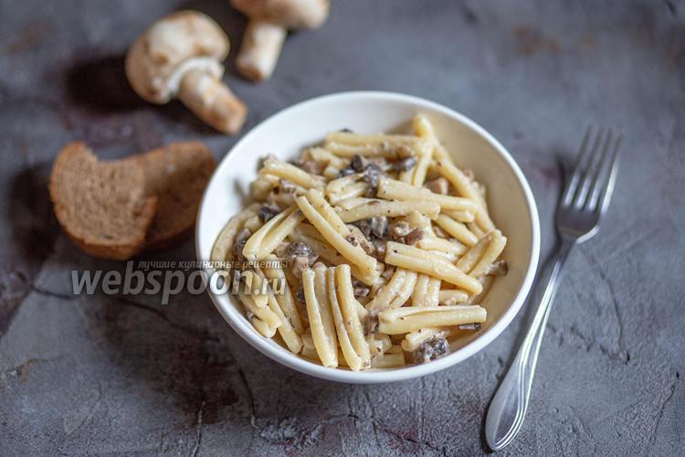 Фото Паста казаречче с грибным соусом