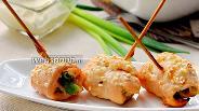 Фото рецепта Запечённые куриные рулетики со стручковой фасолью
