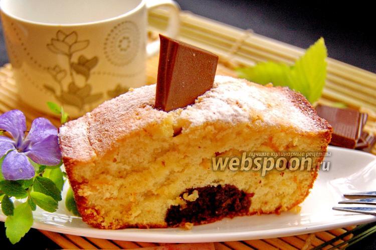 Фото Апельсиновый кекс с шоколадным «стержнем»