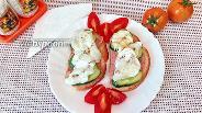 Фото рецепта Бутерброды с паштетом и яйцом