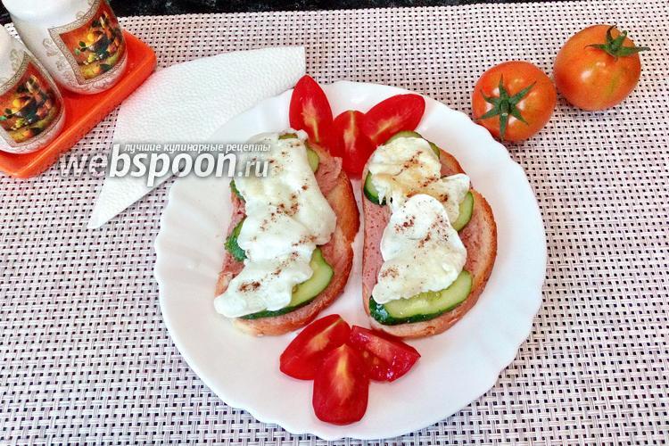 Фото Бутерброды с паштетом и яйцом