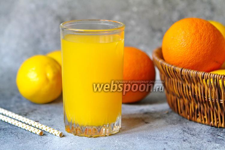 Фото Горячий пряный напиток апельсин-имбирь