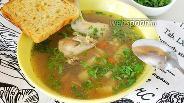 Фото рецепта Гречневый суп с перепелами