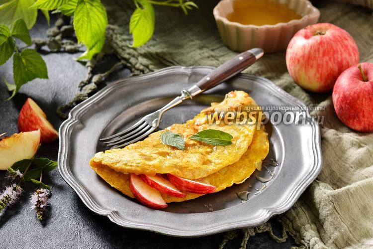 Фото Овсяноблин с яблоком