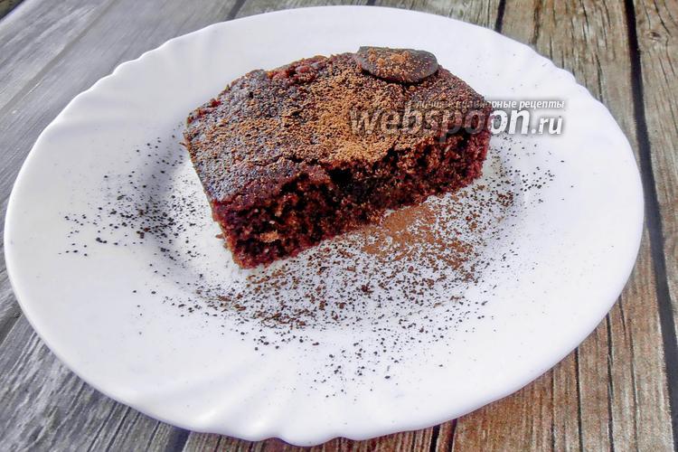 Фото Шоколадный брауни в микроволновке