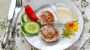 Фото рецепта Мясные биточки с грецким орехом