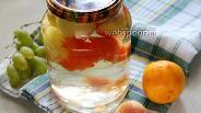 Фото рецепта Компот из белых нектаринов с грейпфрутом на зиму