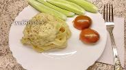 Фото рецепта Гнёзда феттучини с фаршем в сливочном соусе