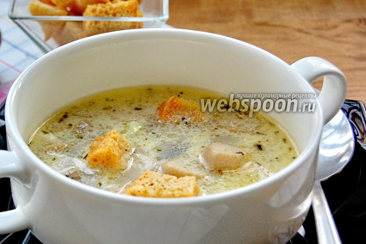 Фото Чесночный суп с грибами