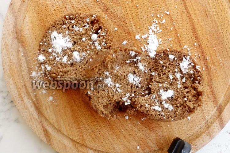 Фото Большой шоколадный кекс в микроволновке за 5 минут