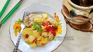 Фото рецепта Цыплёнок в горшочке с картофелем и овощами