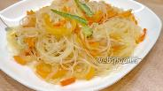 Фото рецепта Фунчоза с овощами