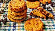 Фото рецепта Морковное печенье с бананом и грецкими орехами