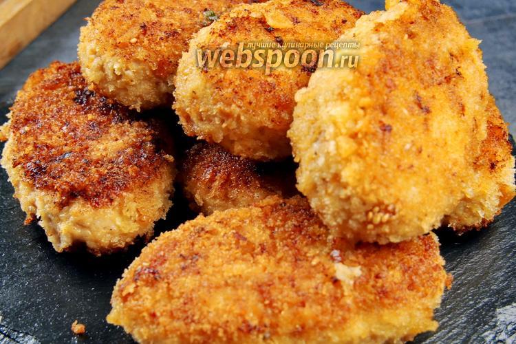 Фото Куриные котлеты с маслом и сыром. Видео