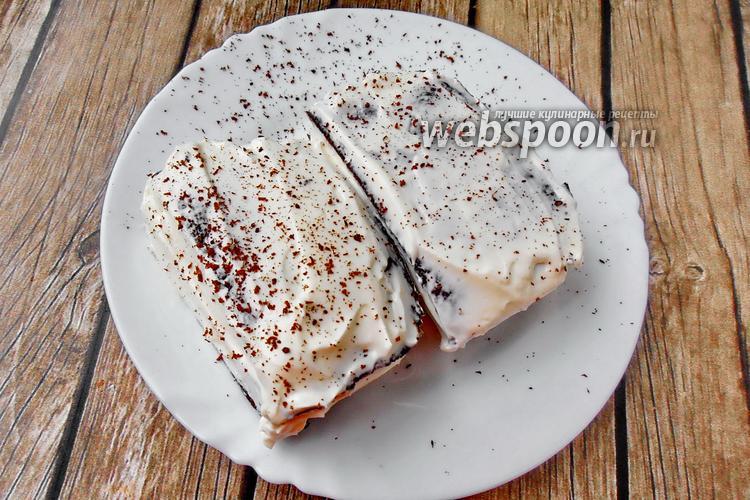 Фото Пирожное из кекса в микроволновке