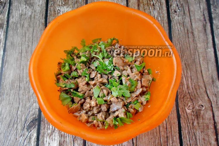 Фото Жареная печень индейки на сковороде