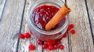 Фото рецепта Быстрый пряный джем из клюквы