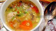 Фото рецепта Овощной суп с кнелями
