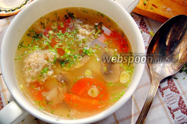 Фото Овощной суп с кнелями